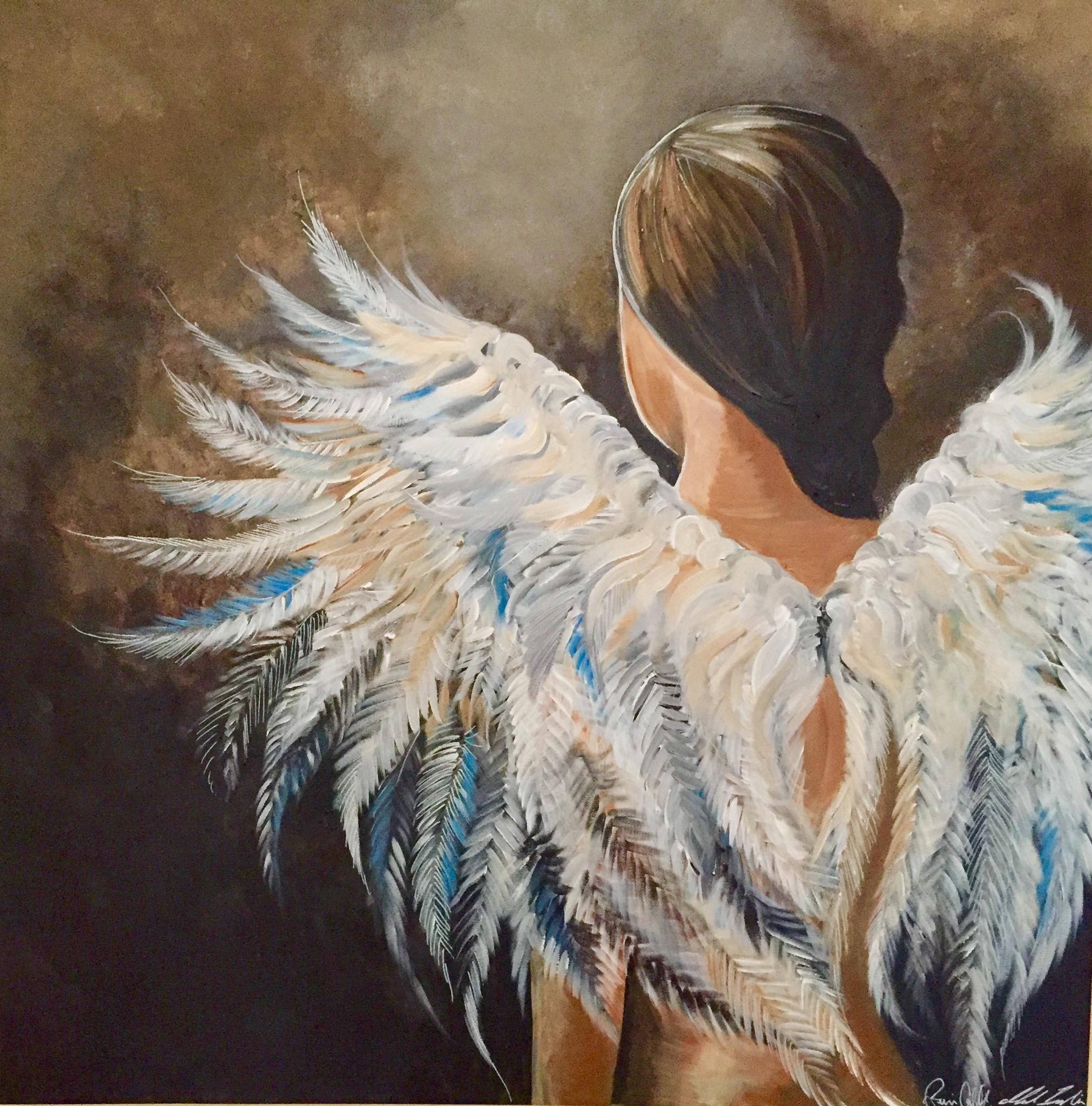 """Avslutningspresent målat av Mikael Ingelin och Jenny Costell """"Reunion"""""""